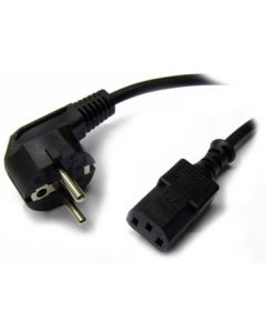 Power cord, PC and wall socket, 2m