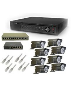 Security Camera System 8-FULLHD-IP